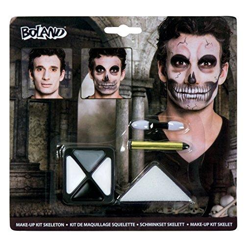 Boland Schminkset Skelett, 2er Pack (2 x 7 Stück) (Halloween Skelette)