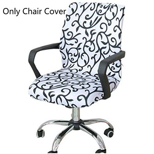 Caveen Stuhlabdeckung Simplism Style Abnehmbare Dehnbare Abdeckungen Universal Sessel Cover Schonbezug für Büro Rotierenden Stuhl Esszimmerstuhl Muster L (Chaise-abdeckung)