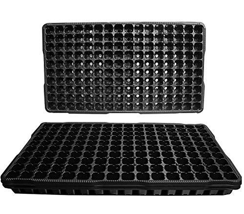 PlenTree Lot de 25 Plateaux de démarrage en Plastique - Chaque Plateau Dispose de 160 cellules - Les cellules mesurent 2,5 cm carrées x 1,8 cm de Profondeur. Grands bacs de Propagation 160 cellules.