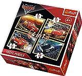 Trefl Puzzle 4 en 1 Cars 3 - 35 / 48 / 54 / 70 pièces