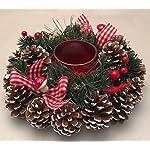 CENTRO TAVOLA NATALE REGINA. IDEA REGALO NATALE:porta candele -decorazione natalizia -ADDOBBO NATALIZIO
