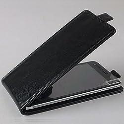 PREVOA Flip PU Housse Coque Protection Case pour Echo Note Smartphone Ecran 5,5 Pouces - Noir