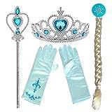 Partymane Frozen Princess Dress Up Party Accessories - Tiara, Wand, Hand Gloves