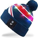 Rotibox LED String Light Up Beanie cappello a maglia con fili di rame Luci  colorate 4 bf8b5334620f