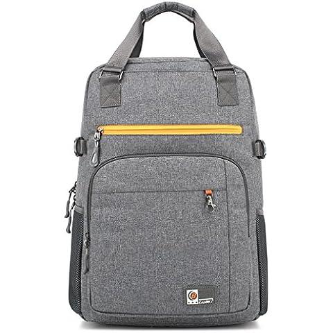 Hombre Mujeres 17.3 inch nylon multifunción maletín bandolera para ordenador portátil ordenador bolsa para iPad/ MacBook Pro/ MacBook Air/Notebook/Laptop/Ultrabook/Dell/Acer/Sony/Samsung/Lenovo