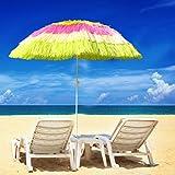 Greenbay Hawaiian Parasol Beach Parasol Patio Garden Umbrella Sun Shade Tilting Multi-Colour