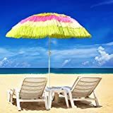 Greenbay Hawaiian Parasol Beach Parasol Patio Garden Umbrella Sun Shade Tilting Multi-Colour