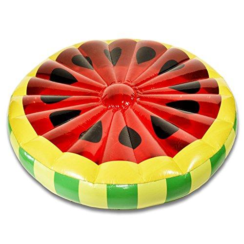 Melone Luftmatratze Aufblasbare Wassermelonen Matratze Badeinsel Schwimmreifen Schwimminsel Ø 143 cm