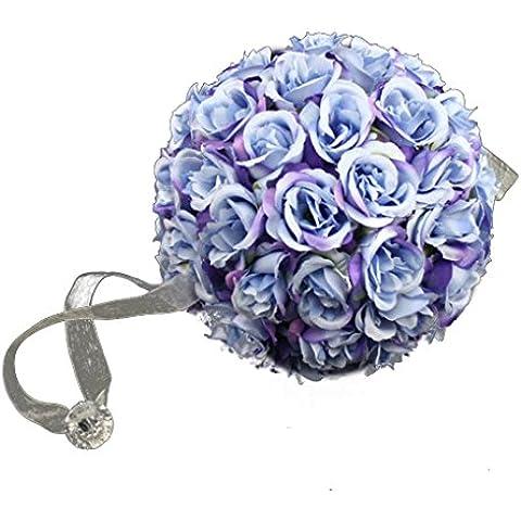 Nesno 15 centimetri di nozze romantico fiore della Rosa palle nuziale Bouquet sfera Fiore partito blu