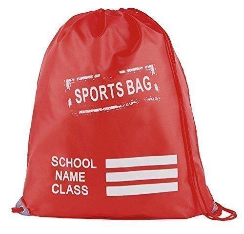 Retro Kordelzug Schule / PE / Schwimmen / Pumps / Trainer / Sport Tasche Rot
