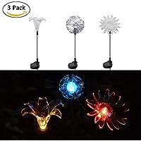 6er Set LED Solar Außen Steh Lampen schwarz Garten Rasen Wege Steck Leuchten
