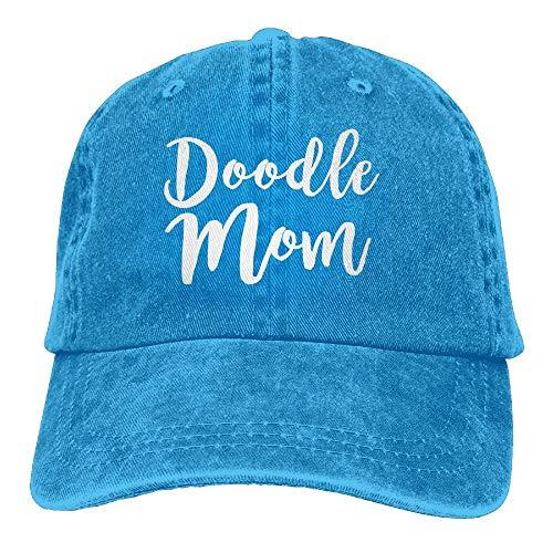 Preisvergleich Produktbild QIOOJ Doodle Mom Adult Cowboy Hat Baseball Cap Adjustable Athletic Customized Best Graphic Hat for Men and Women