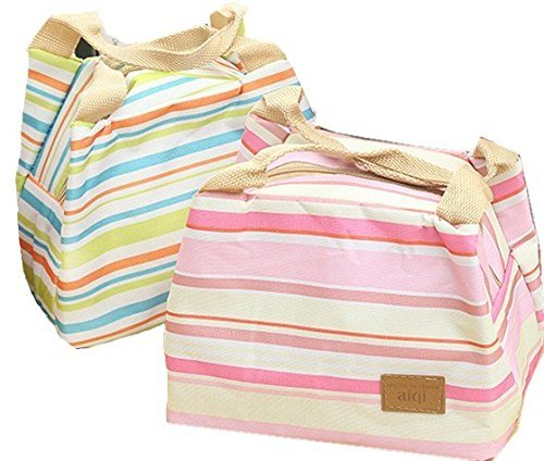 lunch-bags-waterproof-oxford-cloth-stripe-2pc-fashion-lunch-tote-bag-lunch-bag-grocery-bags-with-zip