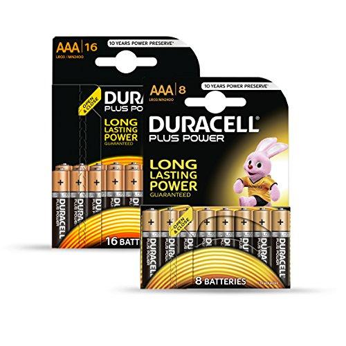 Duracell Batterie Plus Micro AAA 20er + 4 gratis Sonderpack (Duracell Aaa 20)