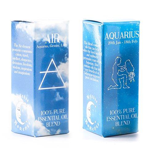 Mystic Moments | Air Element & Aquarius Sternzeichen Astrologie ätherisches Öl Blend Twin Pack (2x 10ml) -