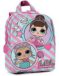 Preisvergleich für Lol Surprise, Kinderrucksack Pink Rosa 27x22x8,5