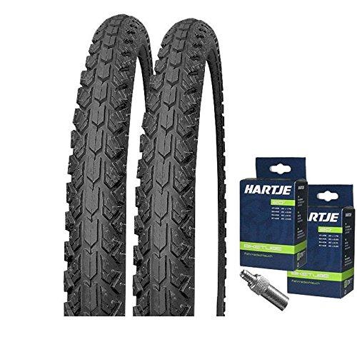 KENDA Set: 2 x K802 Fahrrad Reifen 20x1.90 50-406 + SCHLÄUCHE m. Dunlopventil
