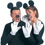 Minnie Maus Kostüm Set Mäuse Kostümset schwarz-weiß Micky Maus Outfit Disney Verkleidung Mauskostüm