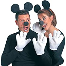 Minnie Mouse Style Fancy Dress Mouse Costume Set Black White Disney Mickey Mouse Costume Outfit Fancy Dress Mouse Costume by NET TOYS