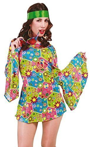 menmuster Hippie Hippy 1960s Jahre Kostüm Kleid Outfit UK 14-16-18 (Am Besten Hippie Kostüme)