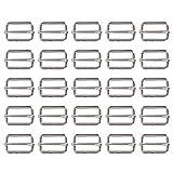 25 Stück 1 Zoll Slide Gürtelschnalle Triglide Slides Gurtband Slider für Fasteners Strap Rucksack, Silbrig