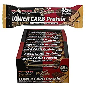 Power System LOW er CARB Protein Riegel mit 45% Eiweiss - Bar 24 x 40g...