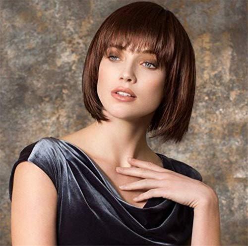 ELEGENCE-Z Frauen Perücken, Europa und Amerika braune Kurze Haare Mode Qi LIU Hai Bobo Kopf Flauschigen täglichen Gebrauch Chemische Faser Perücke ()