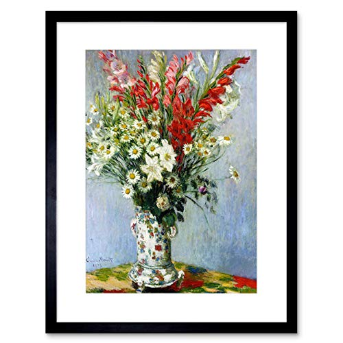 Wee Blue Coo Claude Monet Bouquet of Gladiolas Lilies