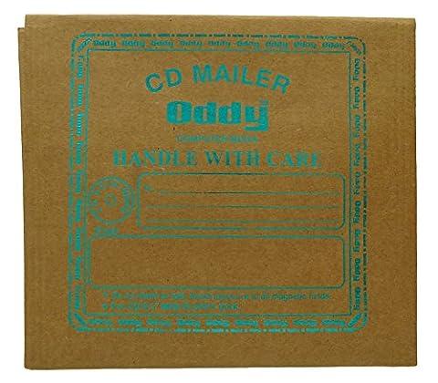 10 x oddy cd Mailer braunem Packpapier Floppy-Speicher mit Innenblase Luftlage