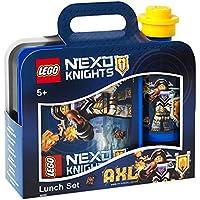 LEGO Nexo Ritter-Lunchbox-Set, Brotdose & Trinkflasche, Blau & Schwarz, 2-teilig