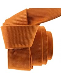 Clj Charles Le Jeune - Cravate Clj Slim 4cm, Piccadilly Orange De Murcia