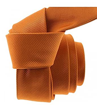 Clj Charles Le Jeune - Cravate Clj Slim 4cm, Piccadilly Orange De Murcia