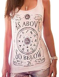 ZKOO Mujeres Sin Mangas Impresión Atractiva Verano Camiseta Tops Camisetas Ocasionales Blanco XL