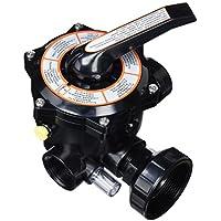 Productos QP Válvula 6 Vias con Enlaces 11/2, Negro, 47x28x28 cm, 500490N
