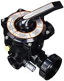 Productos QP Válvula 6 Vias con Enlaces 11/2', Negro, 47x28x28 cm, 500490N
