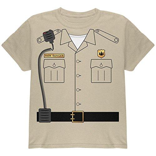 Forest Park Ranger Kostüm Jugend T Shirt Sand YLG (Halloween Forest Park)