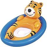 DealBindaas Bestway Inflatable Lil Kiddie Animal Pool Float Tiger | Kids Enjoy Sitting In It | Two Smooth Leg Holes | Age 1-3 Years | Smimming Pool Item | Travel | Vacation
