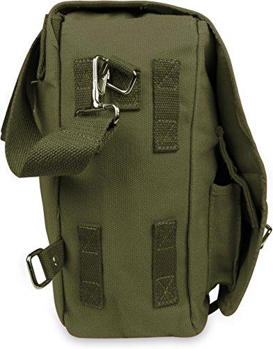 Große und kleine Umhängetasche - Schultertasche - Schultasche - Bag Oliv