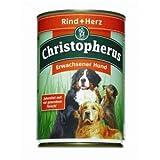 6 x Allco Christopherus Rind & Herz 400 g, Hundefutter, Nassfutter