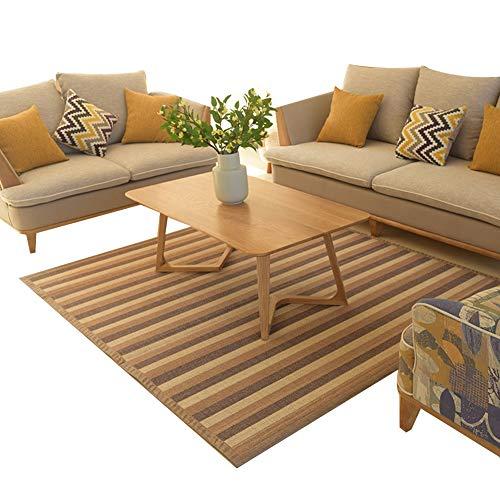 JIAJUAN Japanisch Traditionell Natürlichem Bambus Teppich Fußboden Matte Sommer Bereich Teppiche zum Wohnzimmer Balkon Schlafzimmer (Farbe : C, größe : 130x180cm) -