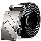 Tonsee® Hommes cuir boucle automatique Ceintures Fashion sangle de ceinture de ceinture ceinture (E)