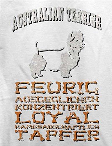 Hund Australian Terrier Herren T-Shirt Weiß