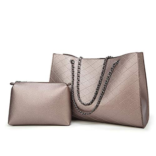 Gungun Frauenhandtaschen Arbeiten Art und Weiseschulterbeutelmutter rhombische diagonale Quertasche einfache Wilde Qualitätsledertasche um,Gold