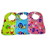 #1: Velcro Bib For 6-12 Months Baby Large Size Printed Baby Feeding Multicolor