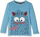 s.Oliver Jungen Langarmshirt T-Shirt Langarm, Blau (Blue Green Melange 64W0), 128 (Herstellergröße: 128/134)
