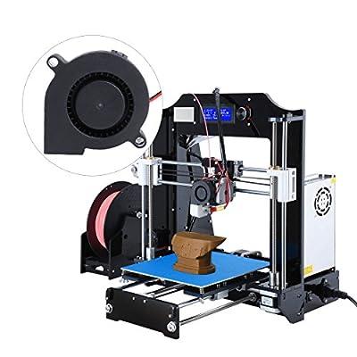 UEETEK 3 Stück/Set DC 12V Lüfter für 3D Drucker, Turbine Gebläse Heizkörper Lüfter, Ausgezeichnet für die Kühlung Kühlkörper auf Hot End, 3D Drucker Zubehör,Schwarz