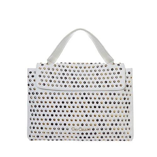 GIO CELLINI - Femme sac a bandoulier shopper m211 Blanc