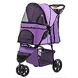 Best Pet Stroller 3 Wheels - EDYUCGA Pet Stroller 3 Wheels Lightweight Folding Cat Review
