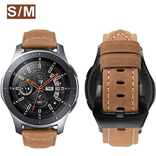 MroTech Correa Galaxy Watch 46mm Cuero Piel Compatible para Samsung Gear S3 Frontier/Classic/Huawei...