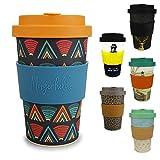 Morgenheld ☀ il tuo bicchiere di bambù alla moda | Coffee-to-Go bicchiere ecologico | bicchiere ecosostenibile dal design futuristico da 400 ml